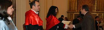 Momento de la clausura y entrega de diplomas.
