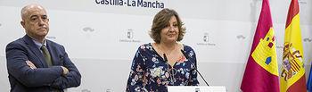 La consejera de Economía, Empresas y Empleo, Patricia Franco, ha valorado los datos del paro en la sala de prensa de la Consejería de Economía, Empresas y Empleo.