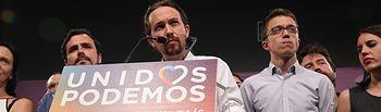 Pablo Iglesias hace valoración de los resultados del 26J