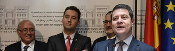 El presidente de Castilla-La Mancha, Emiliano García-Page, es nombrado, en el Museo de la Palabra, Presidente de Honor de la Fundación César Égido Serrano. (Fotos: José Ramón Márquez // JCCM)
