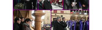 El presidente de la Diputación asiste a la Procesión del Santo Encuentro en El Bonillo