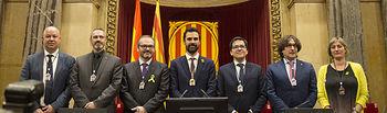 Roger Torrent es elegido presidente del Parlament. Foto: Parlamento de Cataluña.