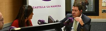 Entrevista de actualidad al presidente de Castilla-La Mancha, Emiliano García-Page, en Radio Castilla-La Mancha (RCM) (FOTOS: José Ramón Márquez // JCCM)