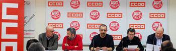 Rueda de prensa convocatoria de huelga en Paradores de Turismo