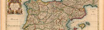 Mapa antiguo de España.