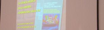 """Los autores del libro """" La Ciencia Médica en la Armada Española del siglo XIX"""", Angel Pozuelo y Francisco Javier Redondo, presentado hoy en el Hospital General de Ciudad Real."""