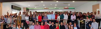 Cabañero subraya en un encuentro provincial en Munera que la participación y el protagonismo de la militancia es el eje central de su programa
