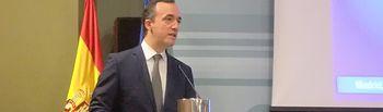 El secretario de Estado de Seguridad ha pronunciado el discurso de apertura de la Comisión Nacional de Seguridad Privada. Foto: Ministerio del Interior