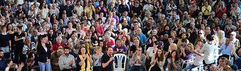 Pablo Iglesias en Palma de Mallorca. Foto:  Podemos Illes Balears @PdmIllesBalears