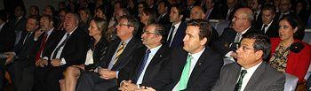 Presidente y director general de Caja Rural de CLM en la gala de entrega de Premios de CECAM