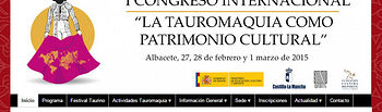 Web del Congreso Internacional de Tauromaquia