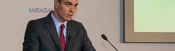 El presidente del Gobierno en funciones, Pedro Sánchez, durante su intervención en la clausura el Congreso Europeo de Empresa Familiar. Foto: Pool Moncloa www.lamoncloa.gob.es