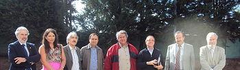 El profesor de la UCLM, Sebastian Castillo, tercero por la derecha, con miembros del equipo de gobierno de la Universidad de la Frontera de Temuco.