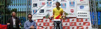Javier García, campeón de la Copa de España de BMX.
