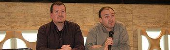 Pedro Cuenca y Pedro García, durante la presentación
