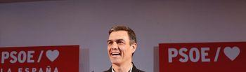 Pedro Sánchez, secretario General del PSOE en un acto en Ciudad Real. Foto: Twitter @PSOE
