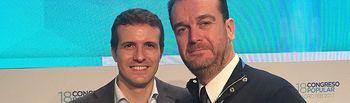 Antonio Martínez Iniesta con Pablo Casado