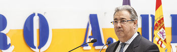 """José Ignacio Zoido, durante la inauguración de la exposición """"Once de Marzo"""" en el espacio TYCE."""