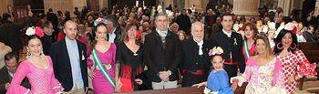 Federico Pozuelo y Julián Garijo asisten a las misas rocieras celebradas con motivo del Día de Andalucía