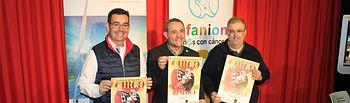 De izquierda a derecha: Jorge Magán, director de Ingeteam Service; en el centro, Juan García, presidente de Afanion y Ricardo Beléndez, director Gerente de Cultural Albacete.