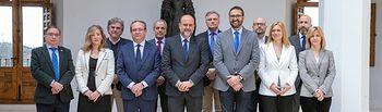 El vicepresidente de Castilla-La Mancha y el consejero de Hacienda y Administraciones Públicas se reúnen con representantes de los Grupos Parlamentarios de las Cortes para abordar la reforma del Estatuto de Autonomía
