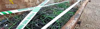 La Guardia Civil interviene más de 15 toneladas de cableado de cobre procedente del robo en instalaciones estratégicas