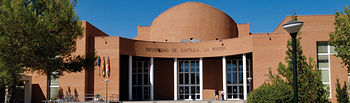 Edificio del pabellón de Gobierno del Vicerrectorado del campus universitario de Albacete.