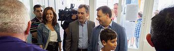 Visita al recinto ferial del alcalde de Albacete, Manuel Serrano, y el subdelegado del Gobierno en Albacete, Francisco Tierraseca