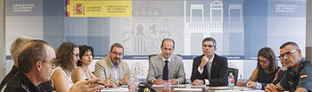 Reunión de la Junta Local de Seguridad en la Subdelegación del Gobierno para el dispositivo especial de las Ferias y Fiestas. Foto: ©JRopero
