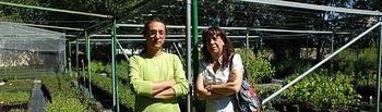 Antonio Molina y Concha Fabeiro en el vivero municipal donde se desarrollará parte del proyecto