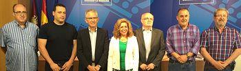 Fotografía del acto de firma de los convenios para las zonas supramunicipales del PRAS en la provincia de Albacete, desarrollado en la Casa Perona