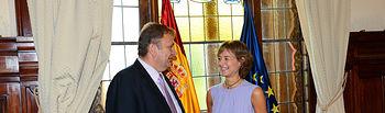 Isabel García Tejerina se reúne con el presidente de la Asociación Nacional de Raza Tudanca. Foto: Ministerio de Agricultura, Alimentación y Medio Ambiente