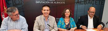 Presentación del acuerdo de presupuestos para 2018 de la Diputación de Albacete
