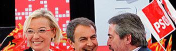 Eva Almunia, Zapatero y Alberto Belloch