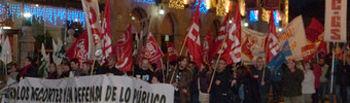 Más de medio millar de personas se manifestaron anoche en Toledo