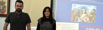 Los profesores José Arturo Salgado y Sonia Morales, en la apertura del encuentro
