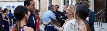 Paco Núñez asiste al acto del 50 aniversario de las Reinas de las fiestas de Villatobas.