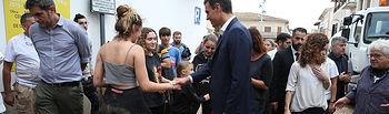 El presidente del Gobierno, Pedro Sánchez, y la presidenta del Govern balear, Francina Armengol, visitan la localidad de Sant Llorenç, la más afectada por las lluvias torrenciales de Mallorca.