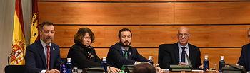 El consejero de Desarrollo Sostenible, José Luis Escudero, comparece en la Comisión de Economía y Presupuestos. (Fotos:José Ramón Márquez // JCCM).