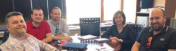 Fotografía de la reunión de FeSP UGT CLM con la Secretaria General de la Consejería de Agricultura