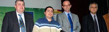 De izqda. a dcha.: Juan José Fuentes, Gabriel Murcia, Juan José Hernández y Luis Mansilla.