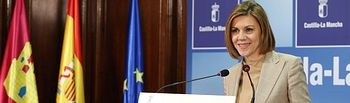Cospedal en rueda de prensa balance de legislatura 3. Foto: JCCM.