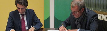 Firma de colaboración entre ASPRONA y Aguas de Albacete.