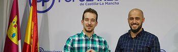 El coordinador general, Mane Corral, y el Vicesecretario de Acción Sectorial de NNGG CLM, Jorge Sánchez-Infante