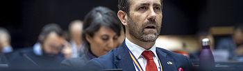 03 Dec 2019 - Brussels, Belgium - MEP José Ramón Bauza pictures in the EP premises in Brussels. © Jan Van de Vel/ BR&U.