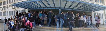 Estudiantes en Movimiento Albacete organizó una concentración contra la decisión de la Consejería sobre el anglogermánico
