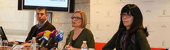 La directora general de Atención a la Dependencia, Ana Saavedra, presenta, en la Consejería de Bienestar Social, los datos de Dependencia correspondientes al mes de febrero. (Fotos: Ignacio López // JCCM)