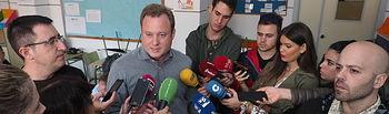 Vicente Casañ, alcalde de Albacete, informa de la reunión del comité asesor del PLATEMUN. Foto: La Cerca - Manuel Lozano Garcia