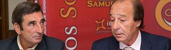Dámaso González, torero y ganadero, junto a Samuel Flores, ganadero y presidente de Honor de los Premios Taurinos Samueles.