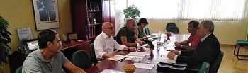 Reunión del presidente de la Confederacion Hidrográfica del Júcar con la Junta Central de Regantes de la Mancha Oriental